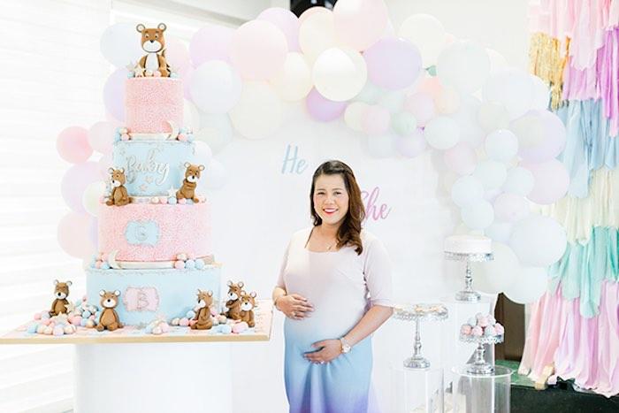 Pastel Donut Baby Shower + Gender Reveal on Kara's Party Ideas | KarasPartyIdeas.com (9)