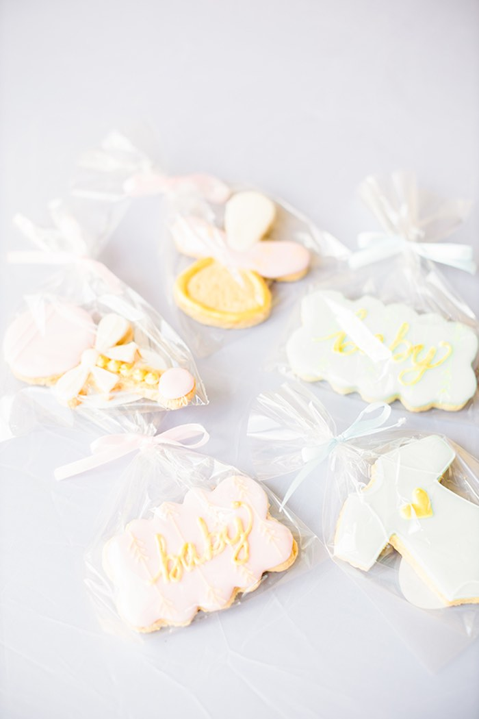 Baby Themed Cookies from a Pastel Donut Baby Shower + Gender Reveal on Kara's Party Ideas   KarasPartyIdeas.com (31)