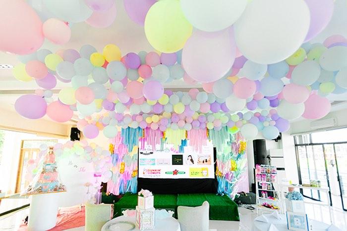 Pastel Donut Baby Shower + Gender Reveal on Kara's Party Ideas | KarasPartyIdeas.com (29)
