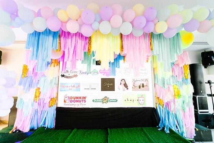 Tassel Balloon Arch from a Pastel Donut Baby Shower + Gender Reveal on Kara's Party Ideas | KarasPartyIdeas.com (27)