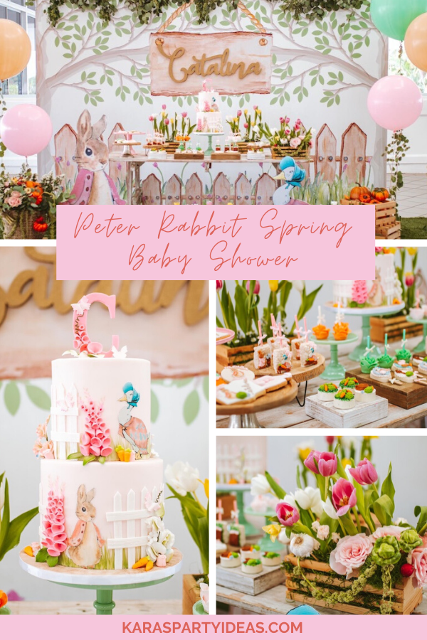 Peter Rabbit Spring Baby Shower Party via Kara's Party Ideas - KarasPartyIdeas.com