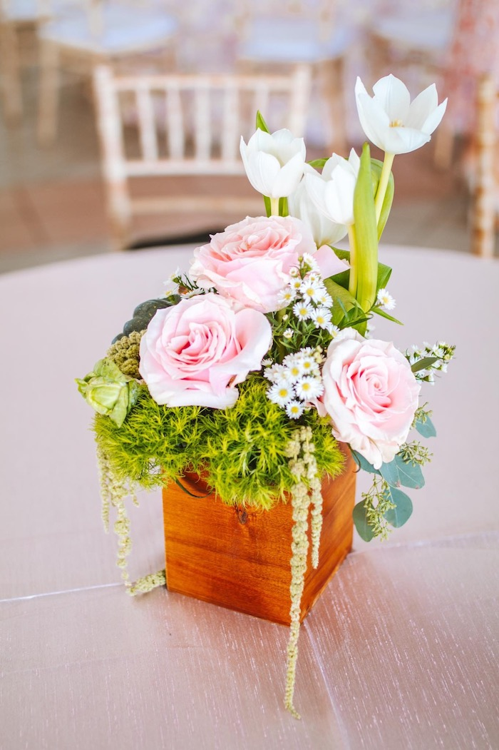 Garden Bloom Box Centerpiece from a Peter Rabbit Spring Baby Shower on Kara's Party Ideas | KarasPartyIdeas.com (11)