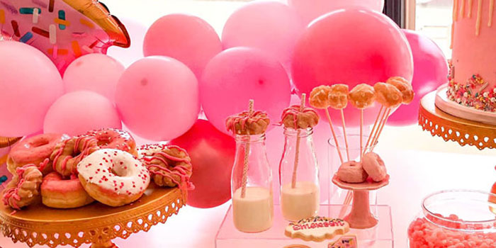 "Pink ""Donut Grow Up"" Birthday Party on Kara's Party Ideas | KarasPartyIdeas.com (1)"