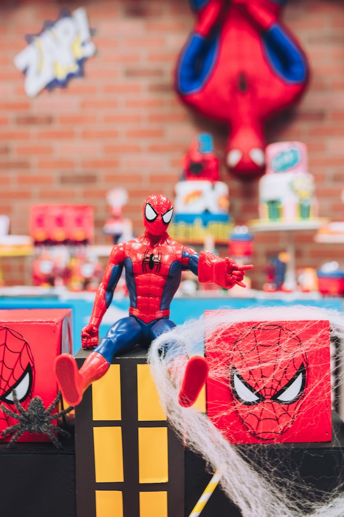 Spiderman Figurine from a Spiderman Birthday Party on Kara's Party Ideas | KarasPartyIdeas.com (8)