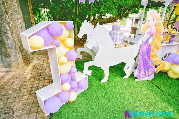 Galloping Horse Cake Table from a Tangled Birthday Party on Kara's Party Ideas | KarasPartyIdeas.com (14)