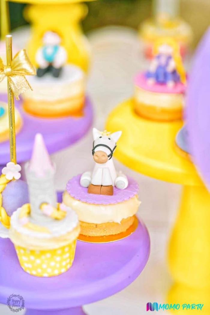Tangled Cupcakes from a Tangled Birthday Party on Kara's Party Ideas | KarasPartyIdeas.com (7)
