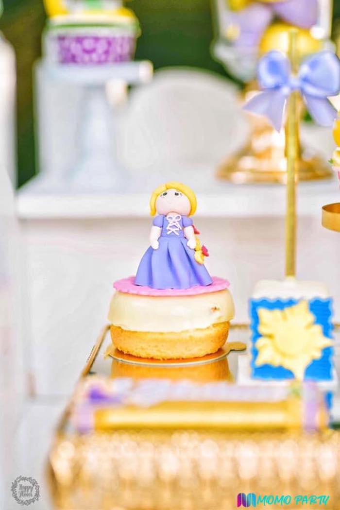 Mini Rapunzel Cake from a Tangled Birthday Party on Kara's Party Ideas | KarasPartyIdeas.com (26)