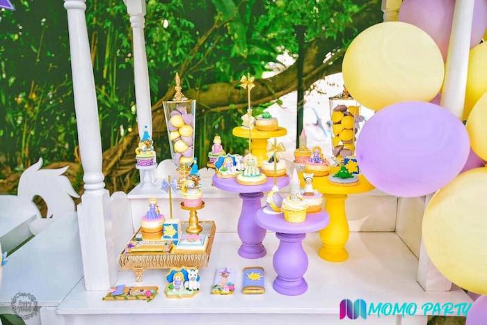 Tangled Themed Sweet Table from a Tangled Birthday Party on Kara's Party Ideas | KarasPartyIdeas.com (23)
