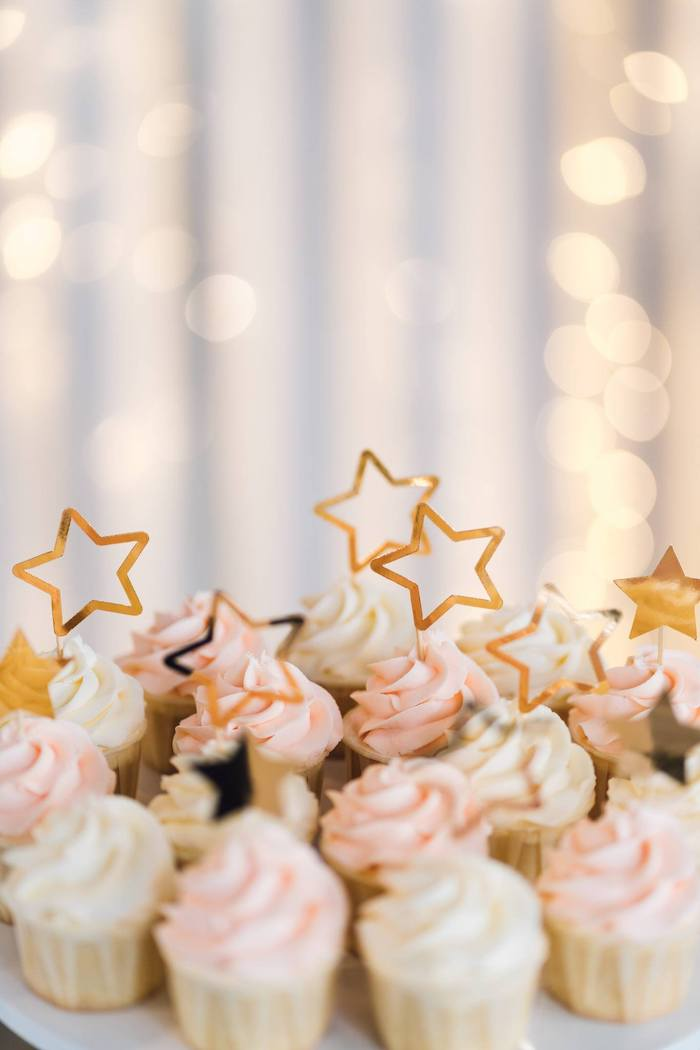 Twinkle Star Cupcakes from a Twinkle Little Star 100 Days Party on Kara's Party Ideas | KarasPartyIdeas.com (10)