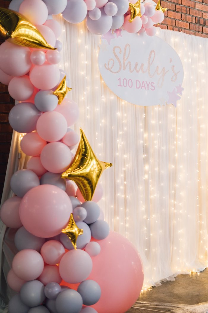 Twinkle Light Backdrop from a Twinkle Little Star 100 Days Party on Kara's Party Ideas | KarasPartyIdeas.com (7)