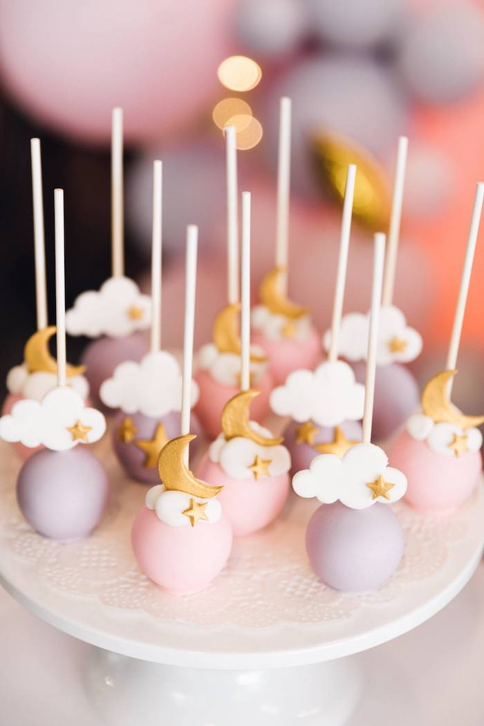 Twinkle Twinkle Little Star Cake Pops from a Twinkle Twinkle Little Star 100 Days Party on Kara's Party Ideas | KarasPartyIdeas.com (14)