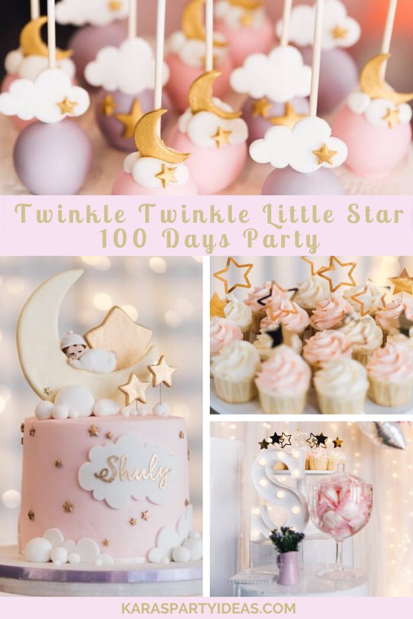 Twinkle Twinkle Little Star 100 Days Party via Kara's Party Ideas - KarasPartyIdeas.com