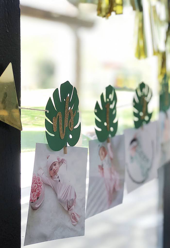 First Year Photo Banner from a Wild One Birthday Party on Kara's Party Ideas | KarasPartyIdeas.com (19)