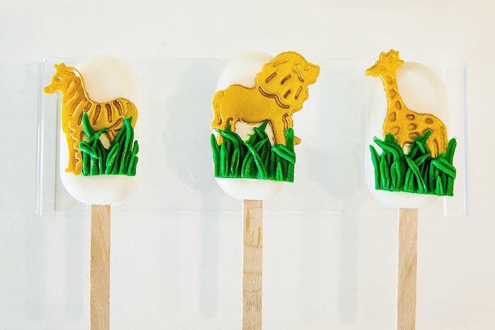 Safari Animal Cakesicles from a Wild One Birthday Party on Kara's Party Ideas | KarasPartyIdeas.com (7)