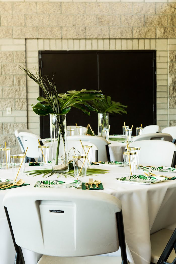 Jungle Safari Guest Table from a Wild One Birthday Party on Kara's Party Ideas | KarasPartyIdeas.com (3)