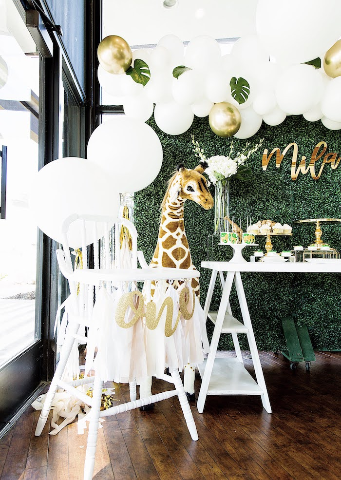 Vintage White High Chair from a Wild One Birthday Party on Kara's Party Ideas | KarasPartyIdeas.com (26)