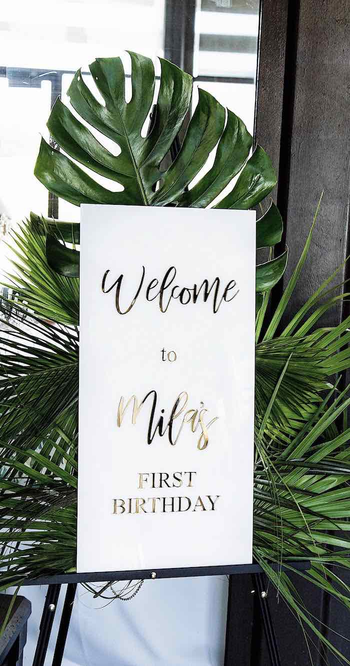 Welcome Sign from a Wild One Birthday Party on Kara's Party Ideas | KarasPartyIdeas.com (22)