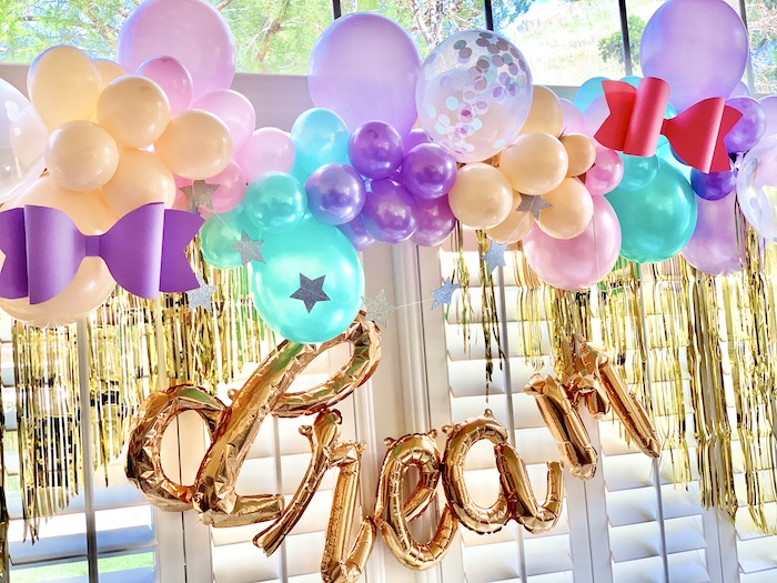 """Dream"" Balloon Backdrop from a Jojo Siwa Dream Big Birthday Party on Kara's Party Ideas | KarasPartyIdeas.com"