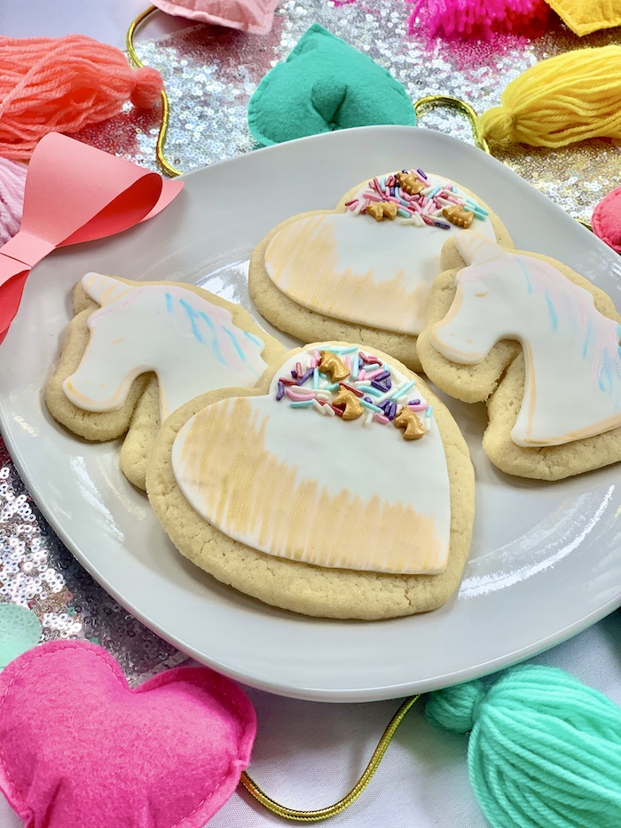 Jojo Siwa-inspired Unicorn + Heart Cookies from a Jojo Siwa Dream Big Birthday Party on Kara's Party Ideas | KarasPartyIdeas.com