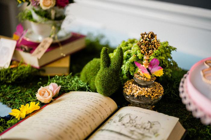 Garden Decor from an Alice in ONEderland 1st Birthday Tea Party on Kara's Party Ideas | KarasPartyIdeas.com (31)