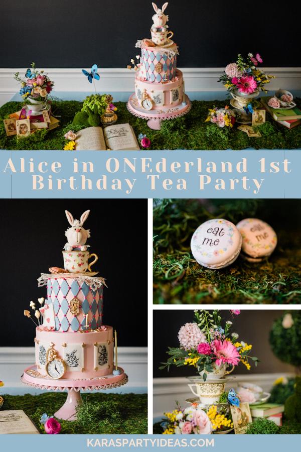 Alice in ONEderland 1st Birthday Tea Party via Kara's Party Ideas - KarasPartyIdeas.com