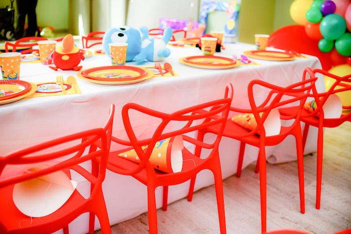 Kid Table from a BabyFirst TV Inspired Birthday Party on Kara's Party Ideas | KarasPartyIdeas.com (21)