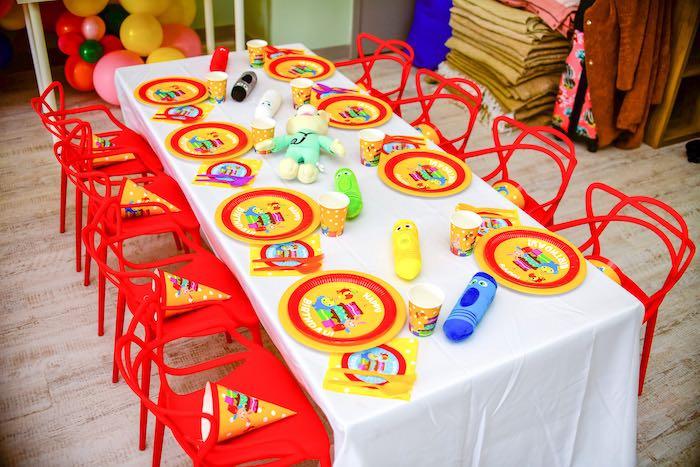 Kid Table from a BabyFirst TV Inspired Birthday Party on Kara's Party Ideas | KarasPartyIdeas.com (20)