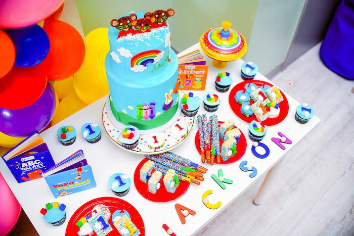Dessert Table from a BabyFirst TV Inspired Birthday Party on Kara's Party Ideas | KarasPartyIdeas.com (17)