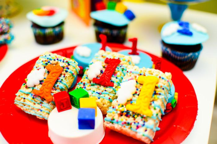 """1"" Crispy Treats from a BabyFirst TV Inspired Birthday Party on Kara's Party Ideas | KarasPartyIdeas.com (12)"