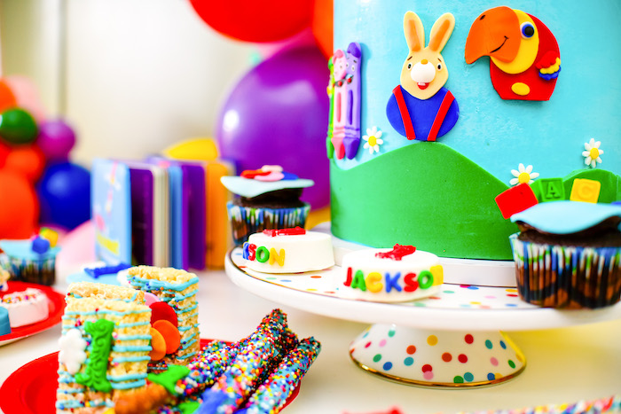 Cake Details from a BabyFirst TV Inspired Birthday Party on Kara's Party Ideas | KarasPartyIdeas.com (10)