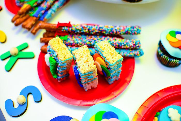 Crispy Treats from a BabyFirst TV Inspired Birthday Party on Kara's Party Ideas | KarasPartyIdeas.com (7)