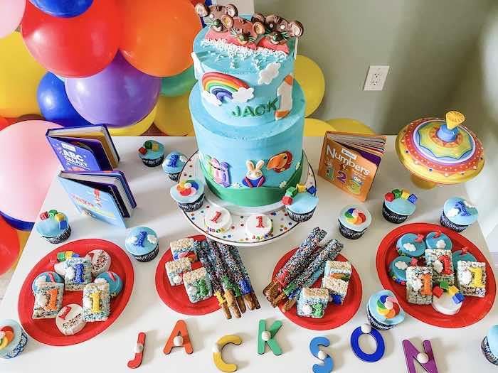 Dessert Table from a BabyFirst TV Inspired Birthday Party on Kara's Party Ideas | KarasPartyIdeas.com (28)