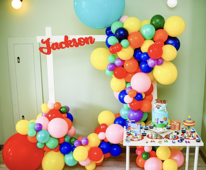 Balloon Letter Dessert Table from a BabyFirst TV Inspired Birthday Party on Kara's Party Ideas | KarasPartyIdeas.com (27)