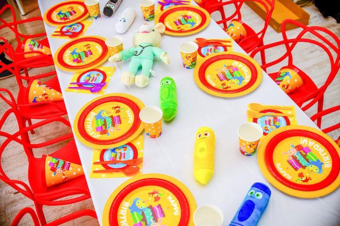 Kid Table from a BabyFirst TV Inspired Birthday Party on Kara's Party Ideas | KarasPartyIdeas.com (24)