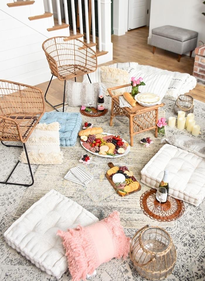 Quarantine Idea Bed Bath Beyond Picnic Living Room- Kara's Party Ideas-13