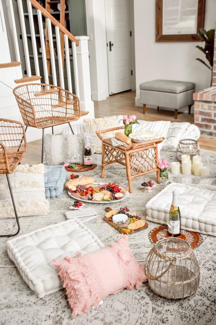 Charcuterie Quarantine Idea Bed Bath Beyond Picnic Living Room- Kara's Party Ideas