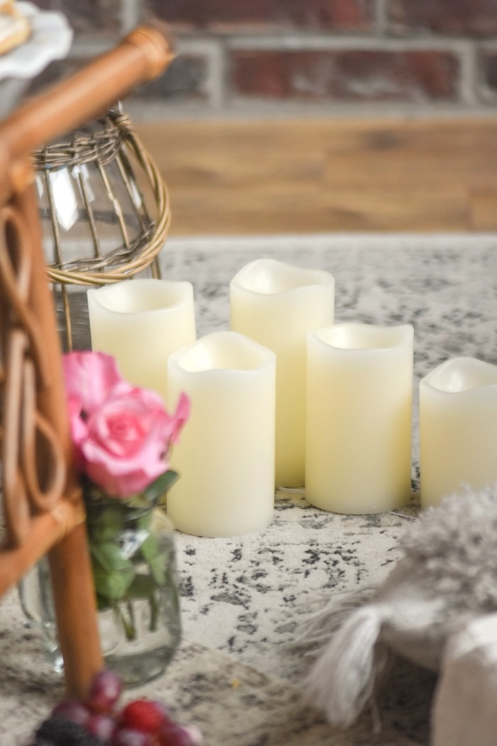 Battery Candles Quarantine Idea Bed Bath Beyond Picnic Living Room- Kara's Party Ideas-13