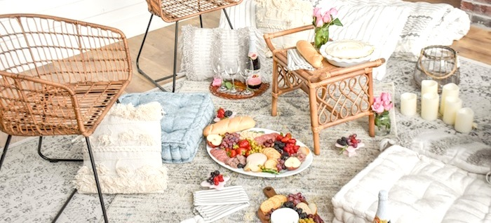 Quarantine Idea Bed Bath Beyond Picnic Living Room- Kara's Party Ideas-34