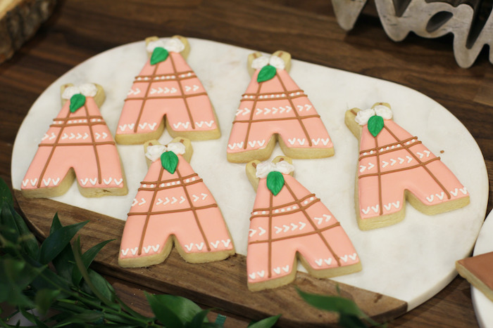 Teepee Cookies from a Boho Outdoor Adventure Birthday Party on Kara's Party Ideas | KarasPartyIdeas.com (24)