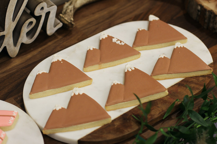 Mountain Cookies from a Boho Outdoor Adventure Birthday Party on Kara's Party Ideas | KarasPartyIdeas.com (23)