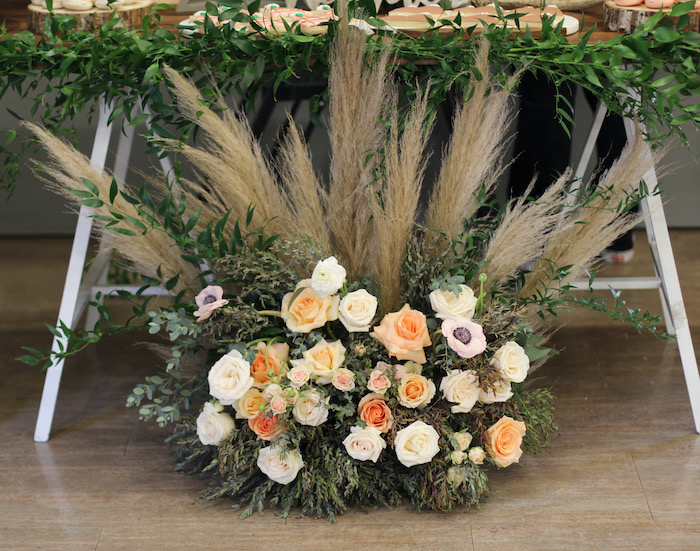 Boho Floral Arrangement from a Boho Outdoor Adventure Birthday Party on Kara's Party Ideas | KarasPartyIdeas.com (19)