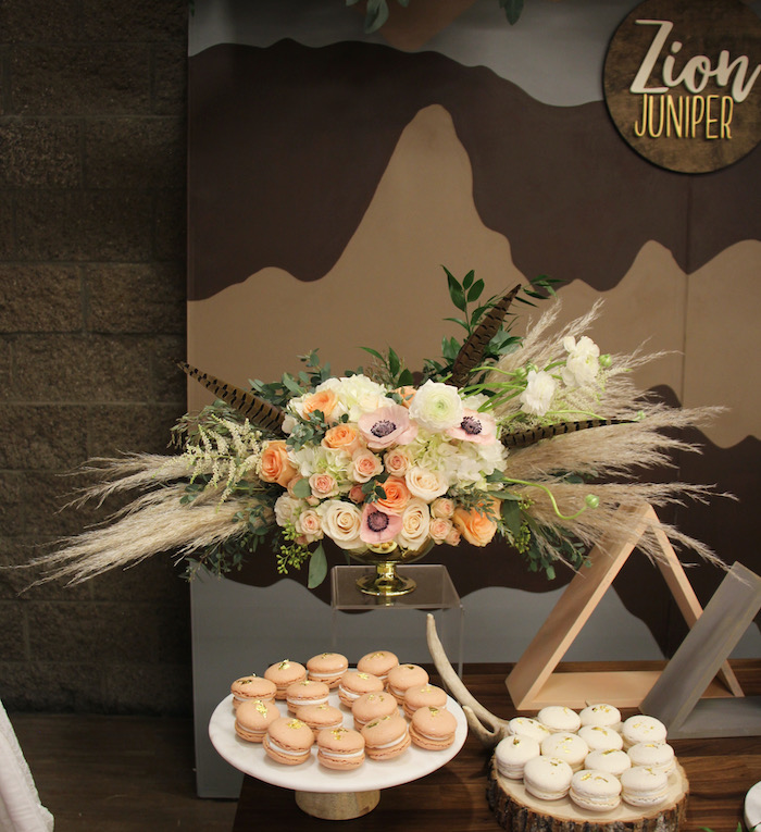 Mountain Range Sweet Table from a Boho Outdoor Adventure Birthday Party on Kara's Party Ideas | KarasPartyIdeas.com (14)