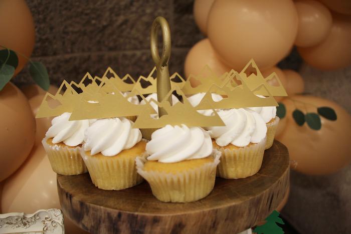 Mountain Range Cupcakes from a Boho Outdoor Adventure Birthday Party on Kara's Party Ideas | KarasPartyIdeas.com (10)