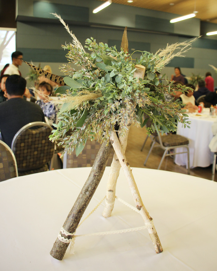 Twig Teepee & Greenery Centerpiece from a Boho Outdoor Adventure Birthday Party on Kara's Party Ideas | KarasPartyIdeas.com (7)