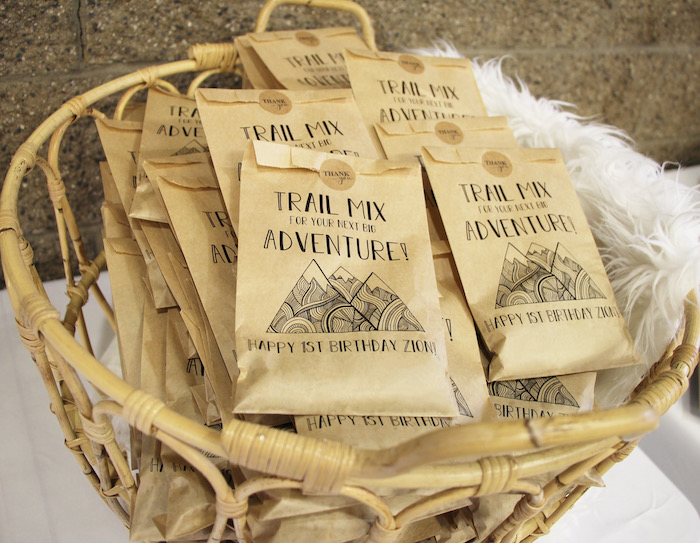 Trail Mix Favors from a Boho Outdoor Adventure Birthday Party on Kara's Party Ideas | KarasPartyIdeas.com (6)