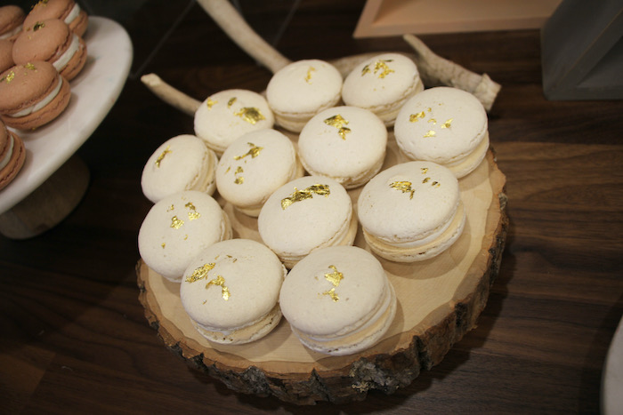 Macarons with Gold Flakes from a Boho Outdoor Adventure Birthday Party on Kara's Party Ideas | KarasPartyIdeas.com (31)