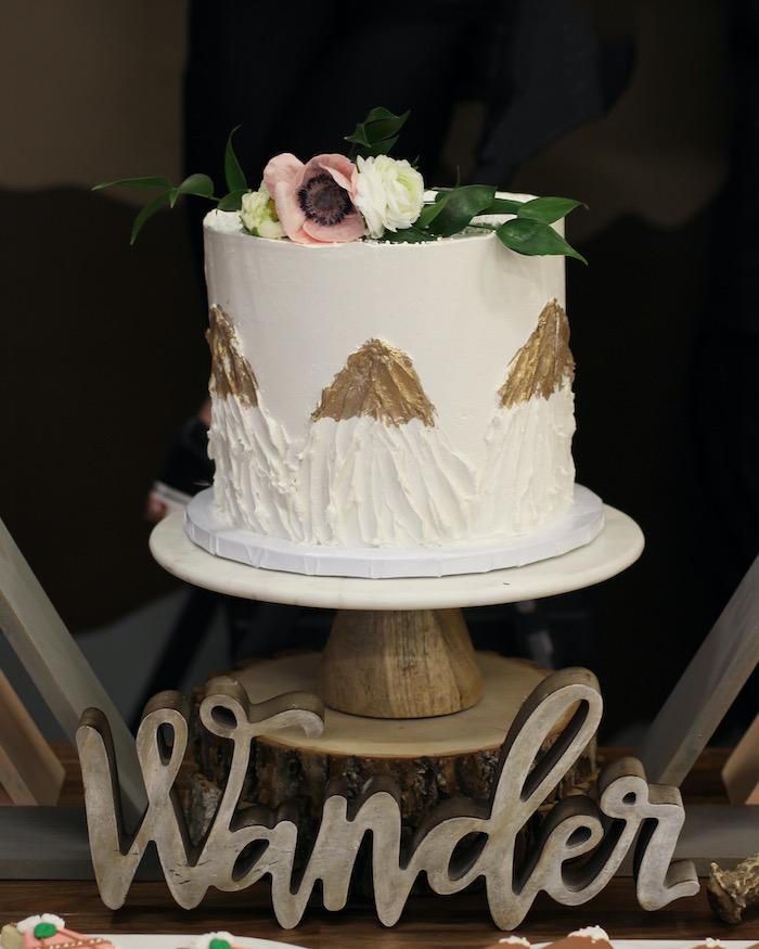 Glam Mountain Cake from a Boho Outdoor Adventure Birthday Party on Kara's Party Ideas | KarasPartyIdeas.com (26)