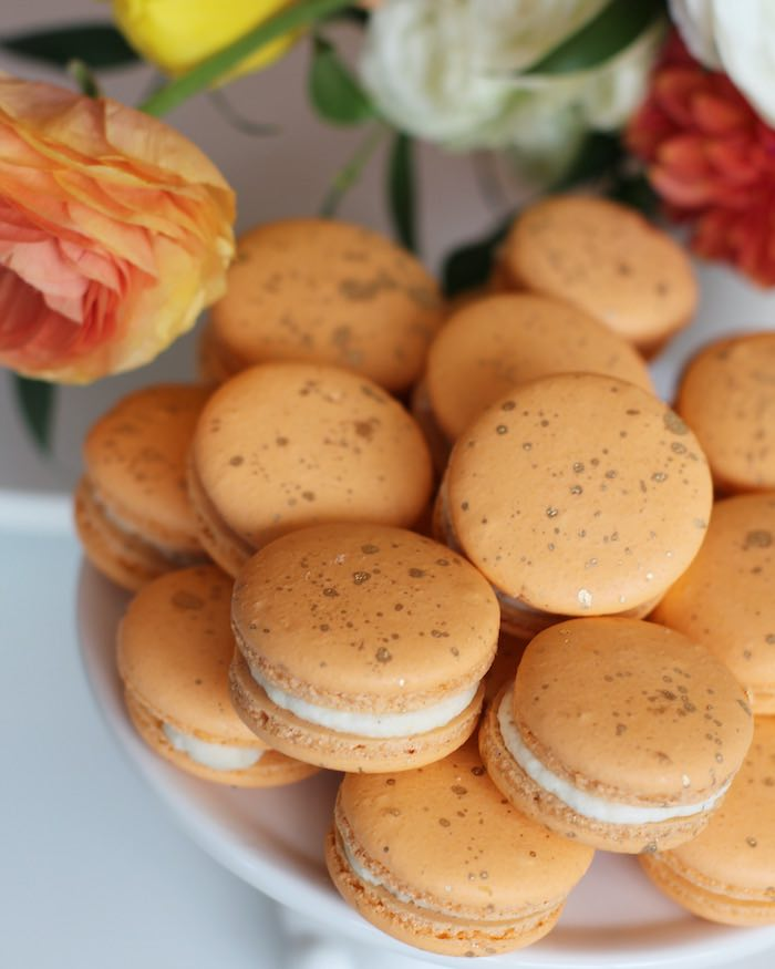 Orange Carrot-inspired Macarons from a Carrot Patch Easter Party on Kara's Party Ideas | KarasPartyIdeas.com (22)