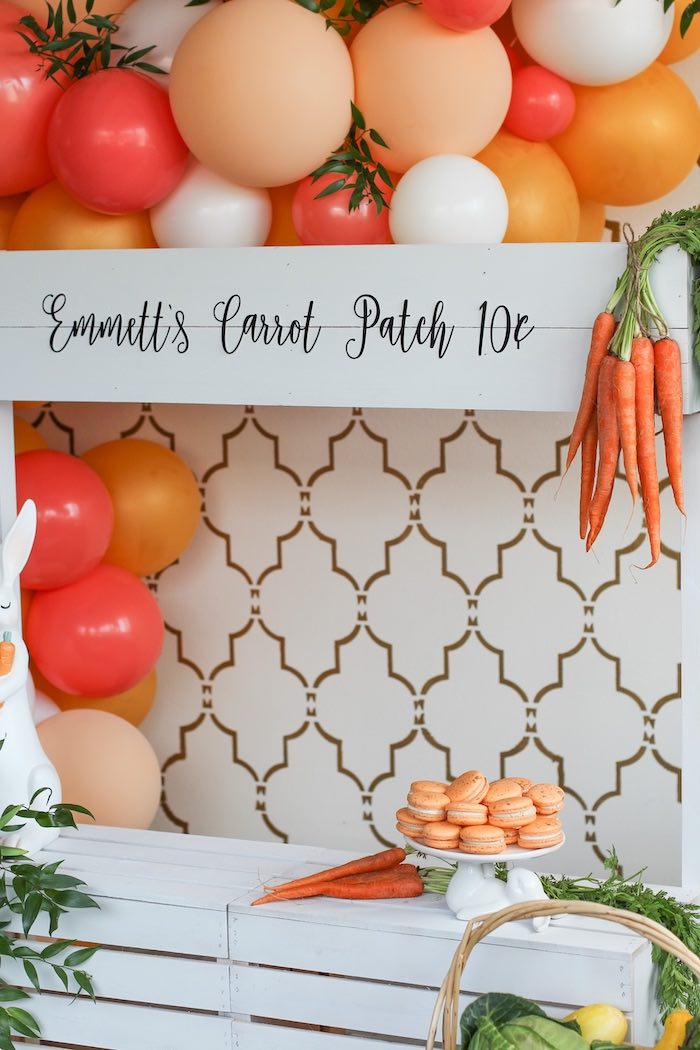 Carrot Patch Stand from a Carrot Patch Easter Party on Kara's Party Ideas | KarasPartyIdeas.com (17)
