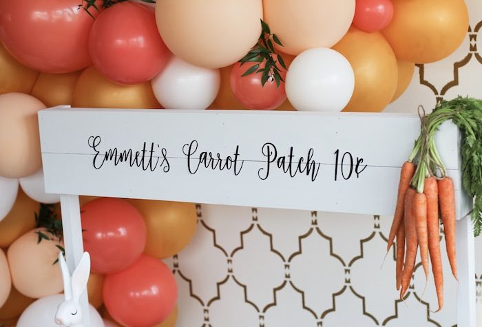 Custom Carrot Patch Sign from a Carrot Patch Easter Party on Kara's Party Ideas | KarasPartyIdeas.com (16)